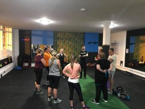 Leanne in the first week. Right of the photo at Ocean Fit in Whitley Bay.