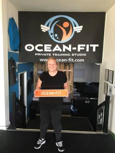 Leanne our Client of the Month at Ocean Fit in Whitley Bay. - Fitness Camps and Personal Training in Whitley Bay